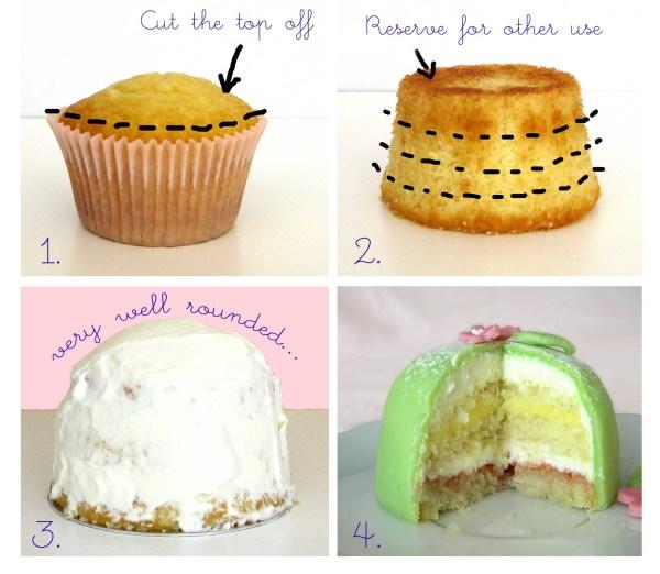 princess cake steps